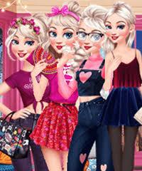 elsa fashion ging dress up game