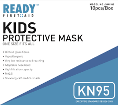 <b>KN95 Child's</b> Protective <b>Mask</b> 4 Layer Pack of 10 – 72hours.ca