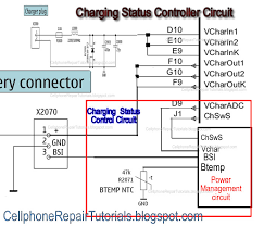 how does charging circuit works from a battery charger to charge a in this picture that there are two terminal signal from the voltage control that sends data to the charging control circuit this two data signals will