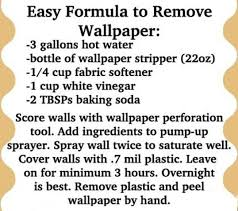 one method for removing wallpaper see