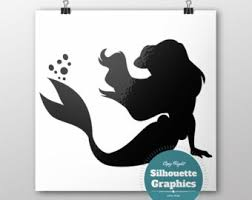 Small Picture Ariel silhouette Etsy