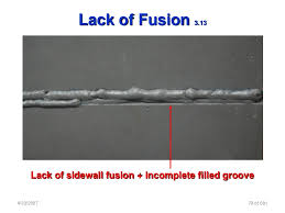 Lack of fusion and incomplete penetration