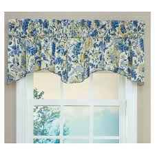 waverly home classics 18 in porcelain cotton rod pocket valance