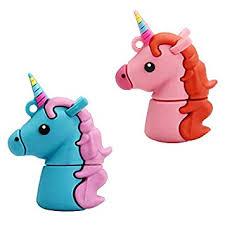Value Pack 2 PCS (Pink and Blue) of Unicorn USB ... - Amazon.com