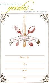 Dinner Party Invitations Templates Free Printable Thanksgiving Dinner Invite Gobble Gobble 9