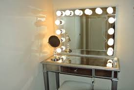 ... White Wall Mirrors With Lights Simple Bulb Decoration Ideas Collection  Dressing Spot Terrifi ...