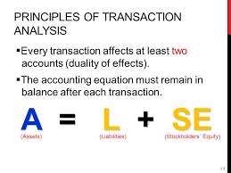 principles of transaction ysis