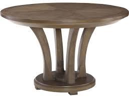 american drew park studio 48 round table quartered oak and ash burl