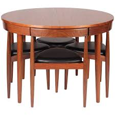 mid century modern dining table. Mid Century Modern Dining Table And Six Chairs Model Roundette By Frem Røjle For Sale