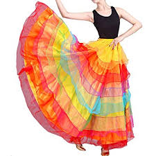 Performance Professional Multicolor Belly Dance Skirt ... - Amazon.com