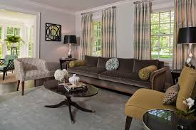 living room light blue living room transitional with formal living room brown velvet sofa mixing antiques