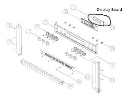 dacor ovens applianceboards the location of the display board can be seen in the following diagram