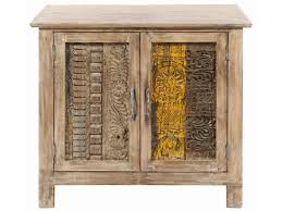 classic home furniture reclaimed wood. Vintage Reclaimed Wood Carved Panel Small Cabinet By Classic Home Furniture A