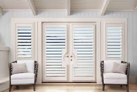 french door motorized shutters