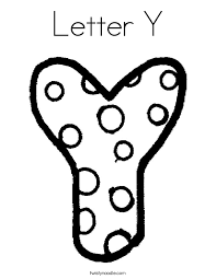 Small Picture Letter Y Coloring Pages Twisty Noodle