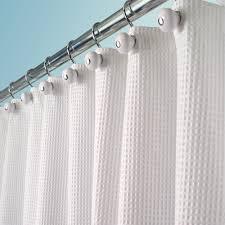 mdesign cotton blend luxury fabric shower curtain 72 x 72