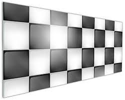 Wallario Küchen Rückwand   Glas Mit Motiv Schachbrett Muster In  Premium Qualität: Brillante
