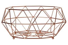 Premier Housewares Vertex Fruit Basket 32 Cm Copper Plated