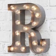 letter lighting. Carnival Letter Lights \u0027A To Z\u0027 Industrial Silver Lighting A
