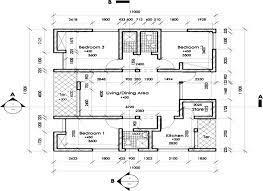 typical floor plan of a 3 bedroom