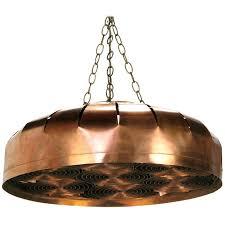 studio design copper concentric circles hanging light fixture 1