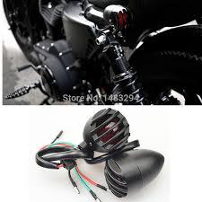 Bullet Lights For Harley Davidson Black Bullet Grill Rear Indicators Brake Tail Light Fits For