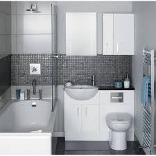 Rustic White Bathroom Vanities Mosaic Tile Bathtubs With Shower