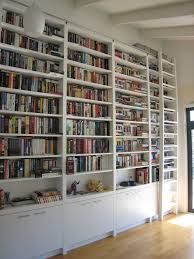 Wall To Wall Bookshelf Library Ladder Ikea And Bookcase Wall Unit For Your Decorating