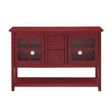buffet with glass doors. Antique Red Buffet With Storage Glass Doors B