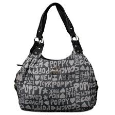 Coach Fashion Poppy Signature Medium Grey Shoulder Bags 21307