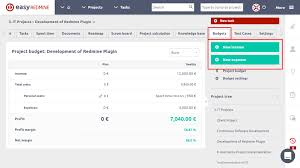 Budget Projects Budgets Project Budget And Cash Flow Easy Redmine