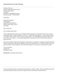Care Aide Cover Letter Cover Letter Health Care Aide Healthcare For Assistant