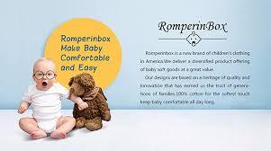 ROMPERINBOX Place Unisex <b>Baby Bodysuits 100</b>% <b>Cotton</b> Boys ...