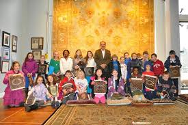 mahmud jafri founder of dover rug home in natick recently hosted third graders