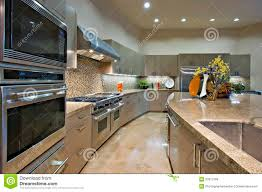 Kitchen Vent Hood Kitchen With Vent Hood Above Stainless Steel Stove Royalty Free