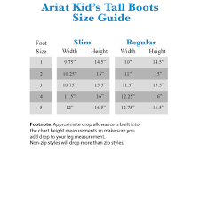 Ariat V Sport Size Chart Ariat English Kids Heritage Contour Field Boot Regular Tall