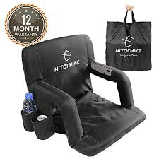 Usafa Stadium Seating Chart Hitorhike Stadium Seat For Bleachers Or Benches Portable Reclining Foldable Black Stadium Seat Chair With Padded Cushion Chair Back And Armrest