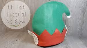 Elf Hat Pattern Impressive Easy Elf Hat Tutorial No Sew YouTube