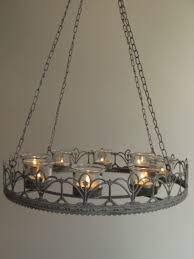 modern chandeliers vintage style french grey hanging tea light chandelier