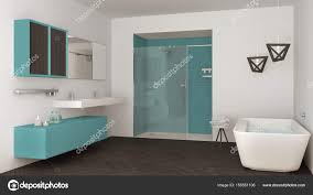 Minimalistische Helles Badezimmer Mit Zwei Waschbecken Dusche Und