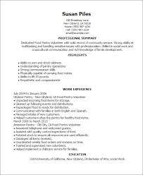 Volunteer Resume
