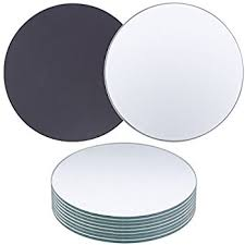 10-Pack Round Glass Mirrors - Perfect for Table or Bar Top Decoration and  Party