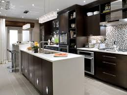 White Modern Kitchen Dark Wood Floors Inviting Home Design - White modern kitchen