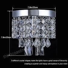 mini style crystal chandelier 1 light modern flush mount ceiling light w7 9 x h7