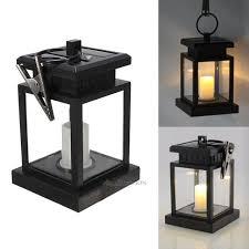 led solar power lamp hanging patio umbrella light outdoor lanterns candle lights