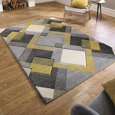 details about mustard beige silver grey modern geometric design small large rugs runner carpet