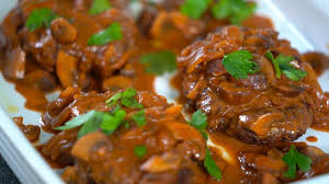 My mother mostly made dinners from scratch. Bobby Flay S Salisbury Steak Youtube