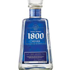 1800 silver tequila 200 ml proof 80