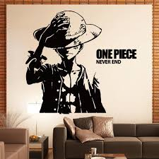 monkey d luffy anime cartoon adhesive paper wall stickers