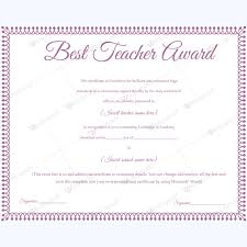 Best Teacher Award Template Best Teacher Award 12 Best Teacher Award Certificate Templates
